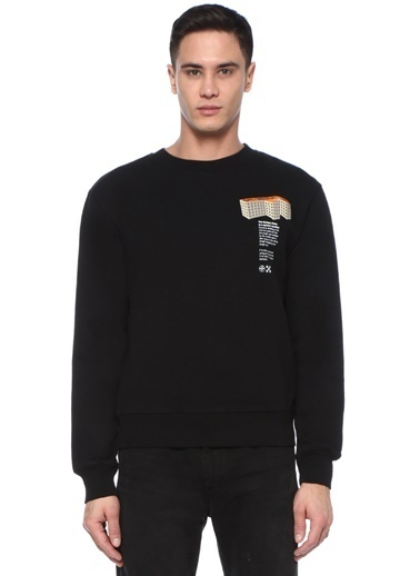 Off-White Sweatshirt Siyah